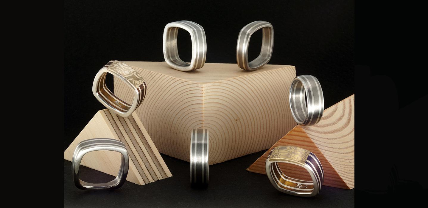 anelli quadri titanio
