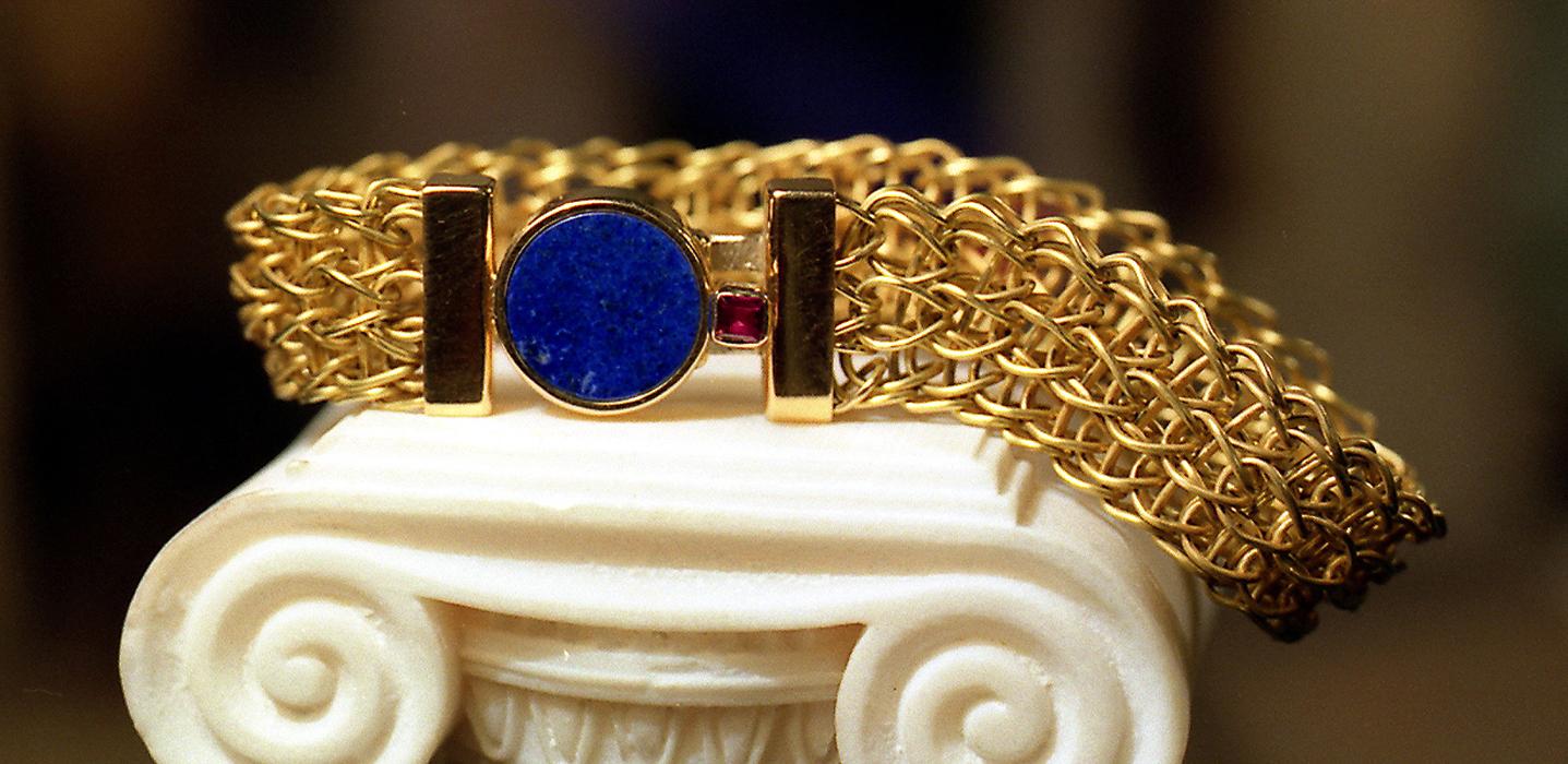 bracciale oro maglia romana