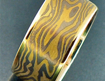 anello mokume gane tigre