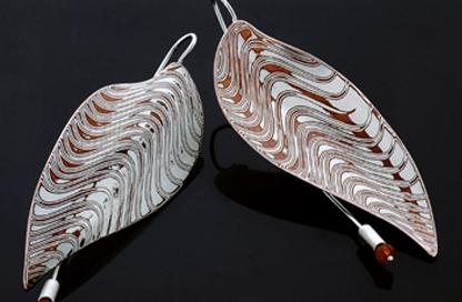 orecchini mokume gane