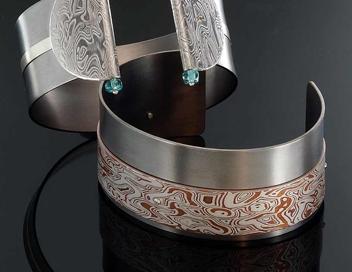 bracciali titanio mokume gane